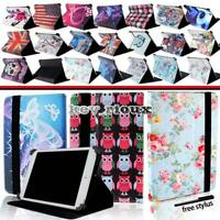 """Leather Tablet Stand Folio Cover Case For Various 7"""" 10"""" XGODY + Stylus"""