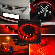 "24"" RED LED Wheel Eyebrow Neon Glow Strip Lights Fender Lamp Under For Hummer"