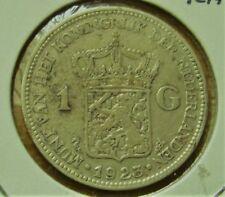 1923 NETHERLANDS 1 GULDEN Silver Coin