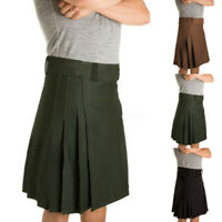 UK Mens Medieval Steampunk Kilt Scottish Skirts Party Stag Costume tactical kilt