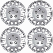 """4 PC Hubcaps Fits Select Auto 14"""" Silver Replacement Wheel Rim Skin Cover"""