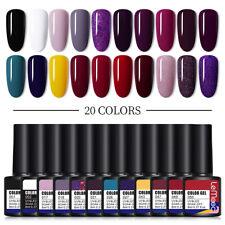 Lemooc Gel UV para Uñas Set 20 un. Conjunto de Colores de Gel Soak Off Esmalte hágalo usted mismo Nail Art 8ml