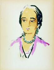 Kees van Dongen - Tete de Femme - 1925 - Pochoirdruk
