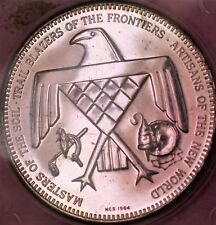 1964 The American Indian First Pioneer Trail Blazer Artisans Silver Proof Medal