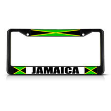 JAMAICA JAMAICAN FLAG  Black Heavy Duty Metal License Plate Frame