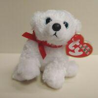 Ty Baby Beanies COTTON the Polar Bear. Small Plush Animal W/ Near-Mint Tags