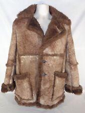 Wilsons Marlboro Man Coat Sheepskin Shearling Vintage Leather Fur Jacket Size 42