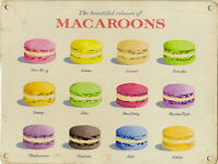 New 15x20cm BEAUTIFUL MACAROON vintage enamel style tin metal advertising sign