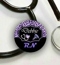Stethoscope ID Tag Personalized -Cheetah- Nurse, CNA, LPN, ETC