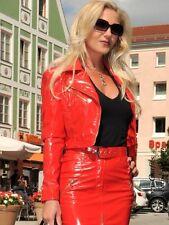 Lackjacke Lack Jacke Rot Bikerjacke Glänzend Vinyl Maßanfertigung