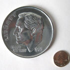 New Jumbo Giant Metal Production Magic Coin Trick US Dime