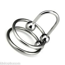 New Ultimate Double Head Ring Stopper Urethral Plug, Chastity Stretcher  za73