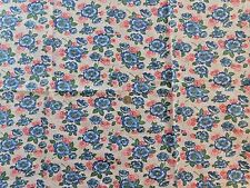 CLEAN VINTAGE BLUE RED FLOUR COTTON FEED / FLOUR SACK FABRIC 37.5 WIDE by 43 L