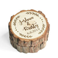 Personalized Unique Wooden Wedding Ring Box | Engraved Proposal Ring Box
