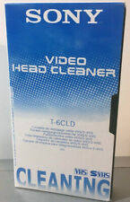 SONY VHS & S-VHS Video Head Cleaner T-6CLD (cassette vidéo) nettoyage bande EX