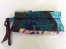 Desigual Elektra Multi Coloured Zip Top Wrist Strap Clutch Bag BNWOTS