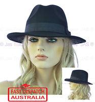 Unisex Men Ladies Fashion GANGSTER COSTUME HAT TRILBY FEDORA WOOL FELT FLOPPY