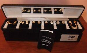 Pierre Cardin Earring Set for Pierced Ears-6 Pairs, JPDE609/611
