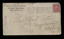 US Farm Related Advertising Cover (Livery & Boarding Stables) 1907 West Chester,