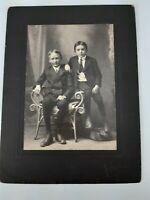 Antique Morten - Warren PA Pennsylvania - Cabinet Card Photograph - 2 Boys