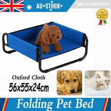Portable Dog Puppy Pet Cat Elevated Bed In/Outdoor Raised Trampoline Foldable AU