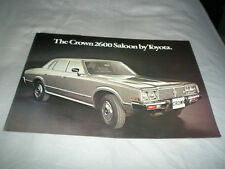 Toyota Crown 2600 Saloon brochure c1976