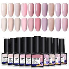 Lemooc Esmalte Gel UV 10 colores púrpura rosado Soak Off Esmalte De Uñas Brillo Kit 8ml