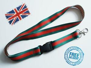 Green-red Lanyard Neck Strap for Keys ID Card Holder - W 20mm, L 52cm 5566