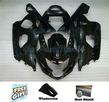 Fit for Suzuki GSXR 600 750 04-05 Injection Glossy Black Fairing Plastic Kit h19