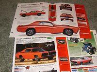 1970 DODGE CORONET R//T SPEC INFO POSTER BROCHURE INFO AD 70