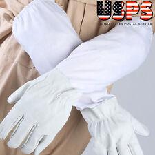 XL Large Beekeeping Gloves Goatskin Bee Keeping W/ Vented Beekeeper Long Sleeves