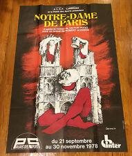 Notre Dame Gourmelin Poster de Paris de Canal Robert Hosssein French Theater Ad
