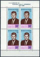 Niger - 1. Todestag von Präsident Kennedy Block 2 postfrisch 1964 Mi. 78