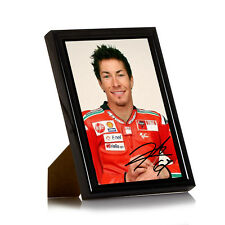 """Nicky Hayden Framed 6x4 Canvas Print Signed Limited Edition """"Great Gift"""""""