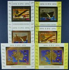 175/SPACE RAUMFAHRT 1974 Äquatorial-Guinea UPU Gold Block 140-2 +Bl.A140-A142 **