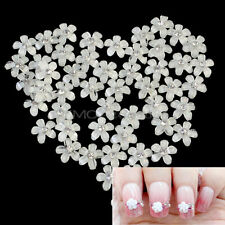 40pcs 3D Manicura Cristal Flor Decoración UV Gel Acrílico Uñas Nail Art Tips