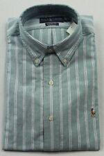 Ralph Lauren Green White Classic Oxford Dress Shirt NWT