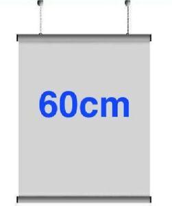 5x Pairs 60cm A1 Aluminium Poster Hanger Gripper Hanging Rail Pair