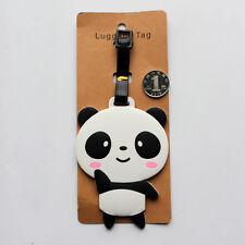 New Cute Panda Bear Luggage Tag Label Suitcase Bag ID Tag Name Address Tag L7
