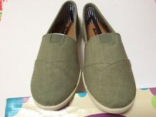 SODA NEW Flat Women Shoe Linen Canvas Slip On Loafers Sz 9 Green OBJECT S