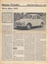 Morris Minor 1000 Motor Trader Service Data No. 484 1969
