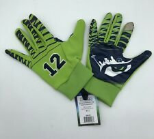 NWT Seattle Seahawks Gwear 12th Man Size S/M Action Green Gloves
