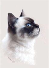 Ragdoll  Cat Greeting Card The Profile from Art by Irina Garmashova
