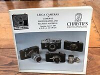christies catalogue - 27th july 1989 . leica cameras & related material