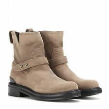 Rag & Bone Ashford Moto Boot, Stone Waxy Leather Boots Shoes, 37.5 or 7.5 US