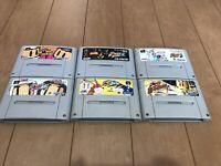 Nintendo SuperFamicom SNES BomberMan 1,2,3,4,5 & B-Daman set japan