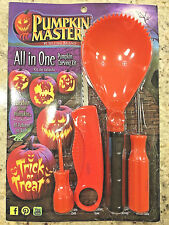 Pumpkin Masters All In One Halloween Carving Kit ~ 8 Patterns & 4 Jumbo Tools