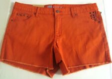 shorts small s 2 orange studded cut offs new nwt casual short denim cotton blend