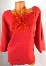 BM* AVENUE PINK WOMEN'S PLUS SIZE BELTED COLLAR NECK STRETCH TOP SIZE 4X