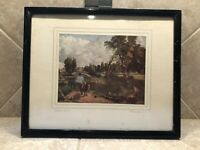 """Vintage Normill Haigh & Sons Framed J. Constable Print """"Flatford Mill"""""""